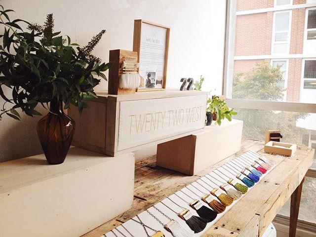 Studio visit and coffee with the sweet @twentytwoweststudio