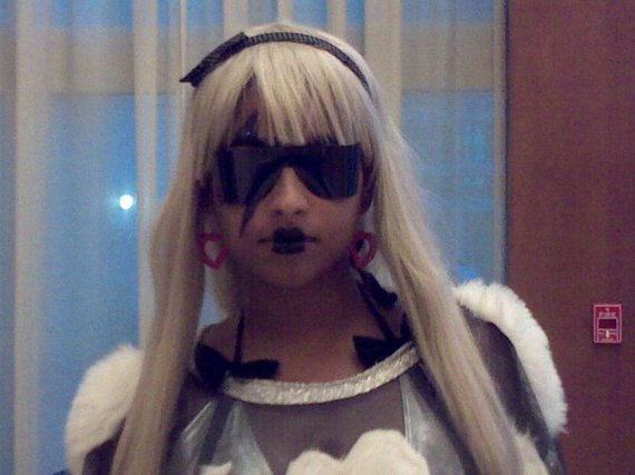 Nastassja dressed as Gaga in 2009