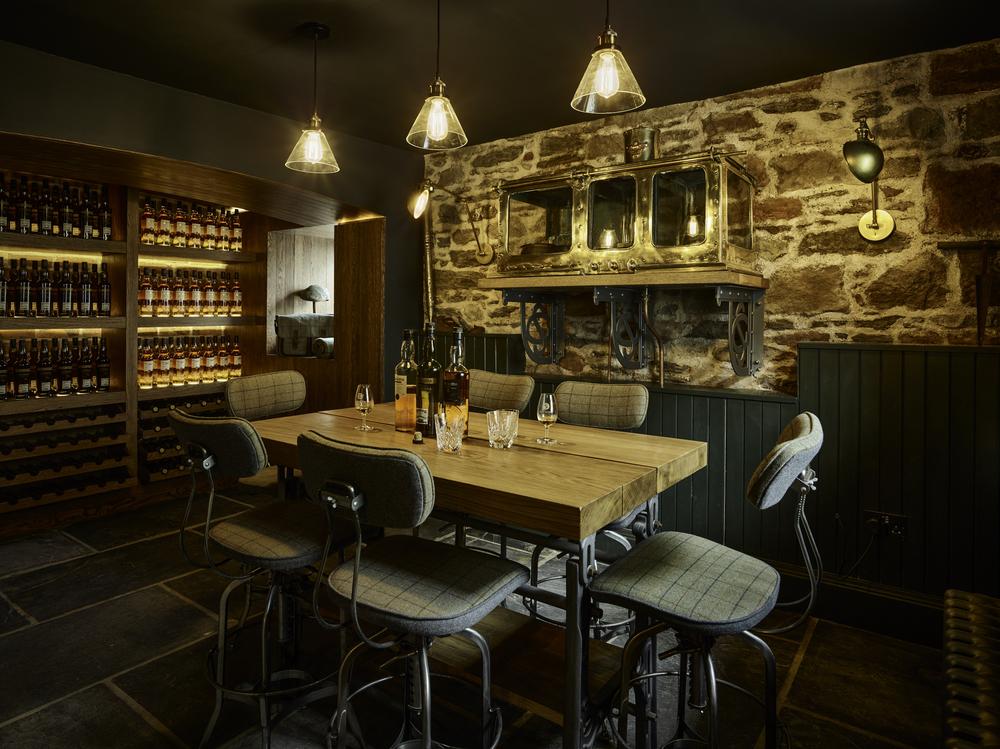 Glen Scotia Distillery Tasting Table and Spirit Safe CF001384.jpg