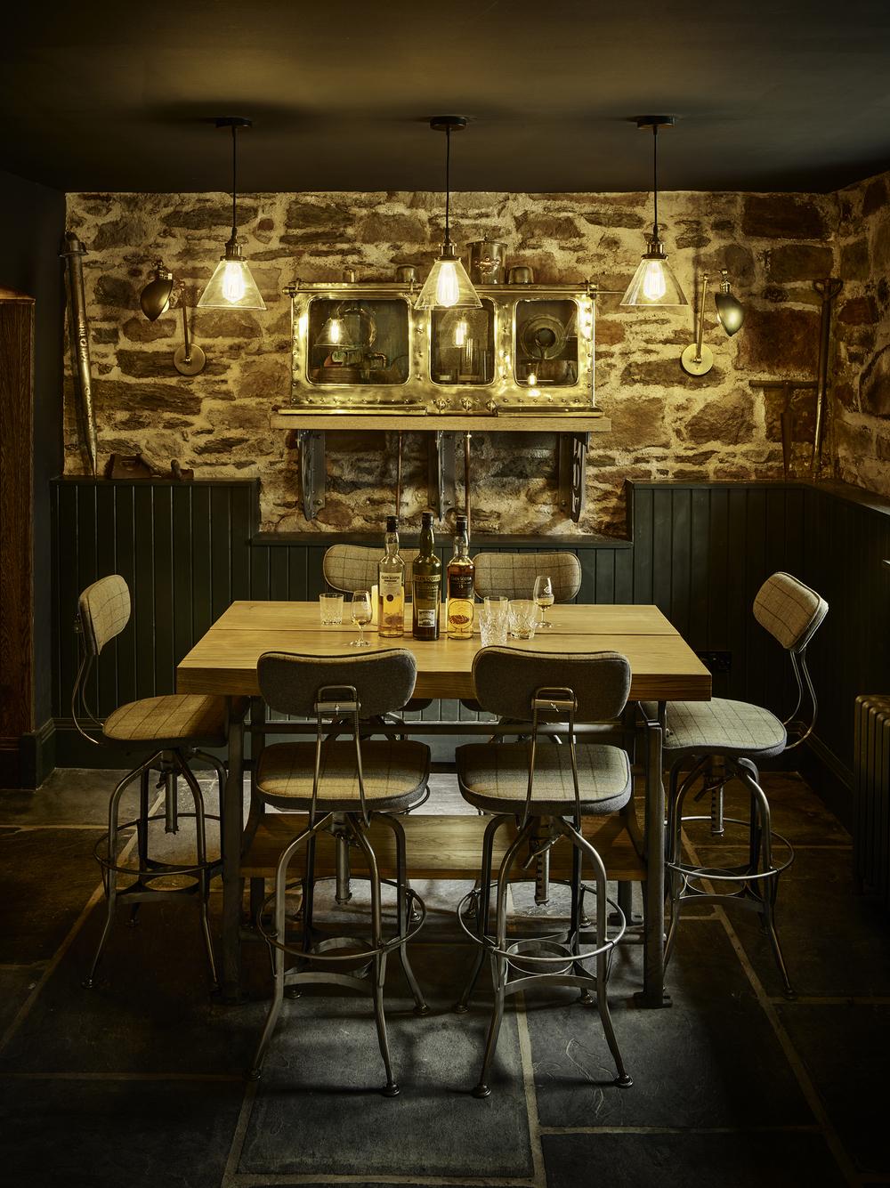 Glen Scotia Distillery Tasting Table and Spirit Safe Elevation CF001362.jpg