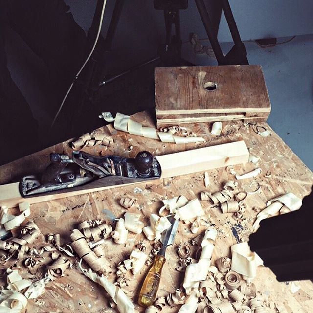 Filming x craftsmanship  #studio #studiolife #art #artdirector #craftsmanship #wood #workshop #tv #advert #advertising #filming #film