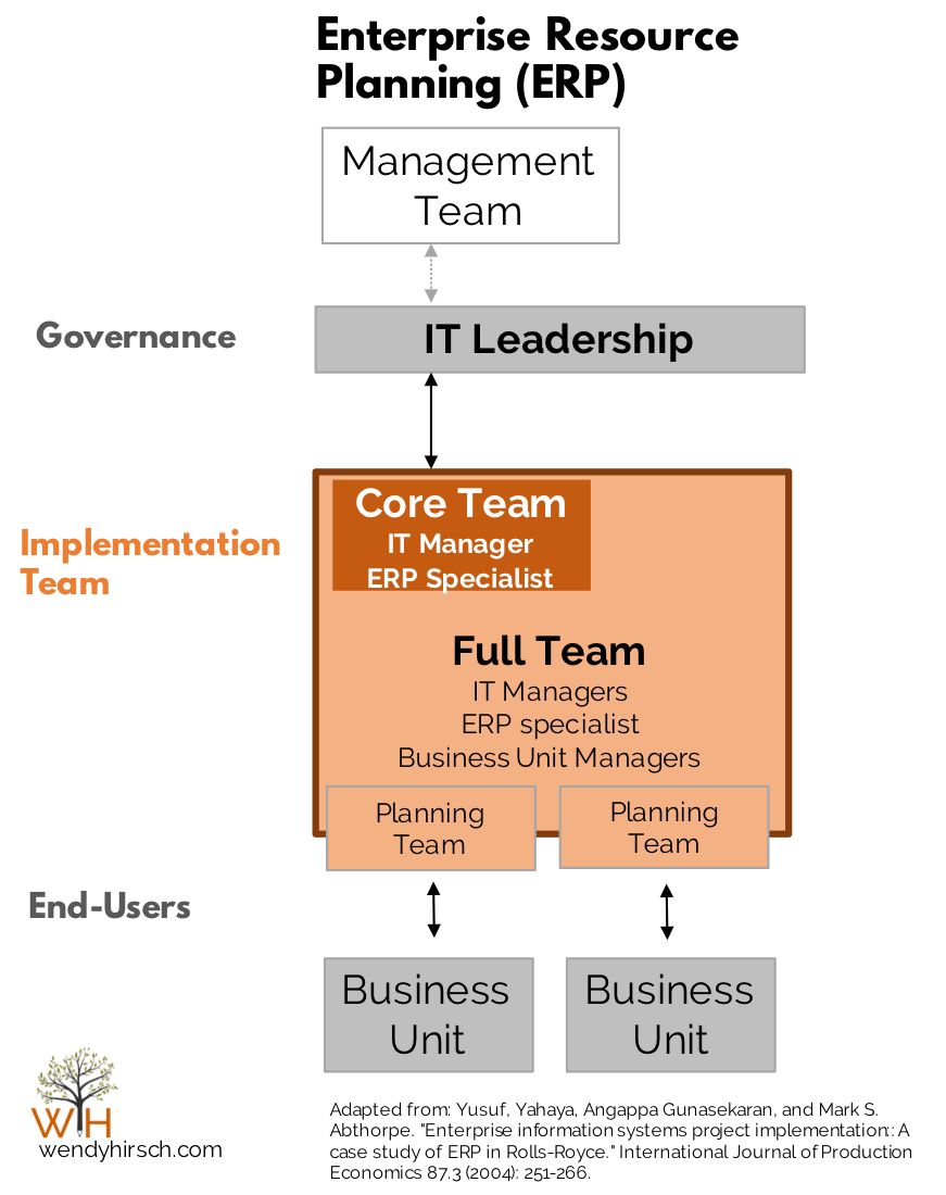 ERP Implementation At A Car Manufacturer Erp Implmentation Team Structure