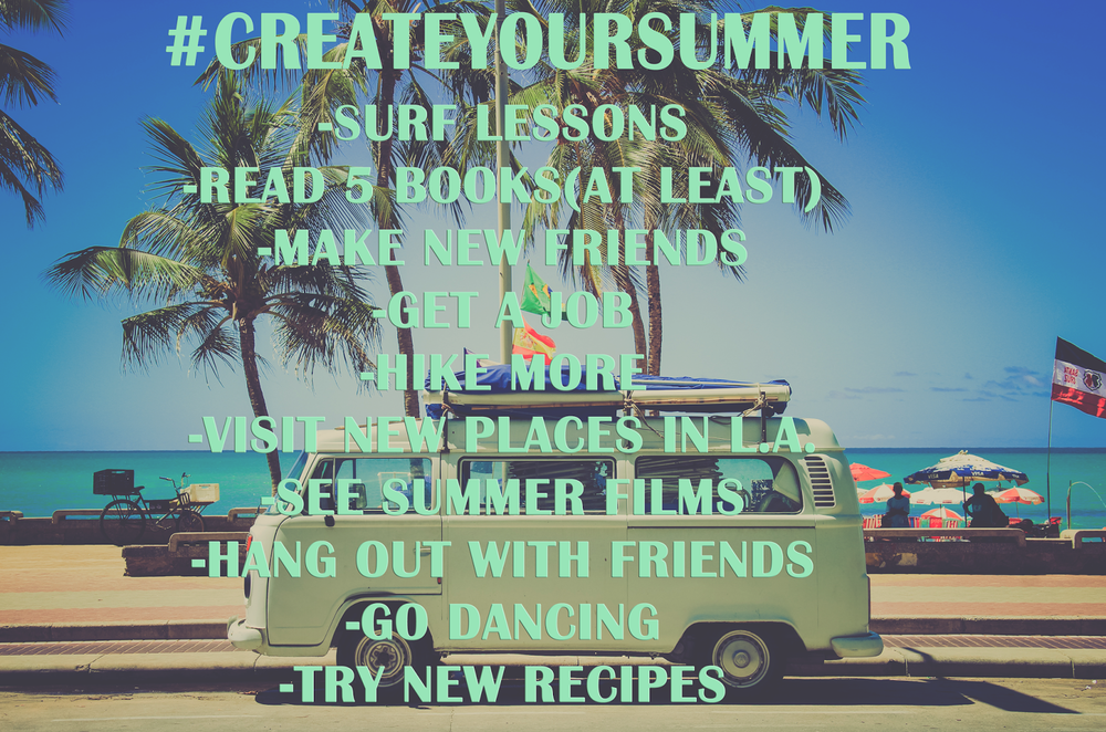 create your summer, summer bucket list, thoughts on thursday,