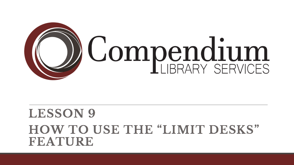 """Lesson 9: How to use the """"limit desks"""" feature"""