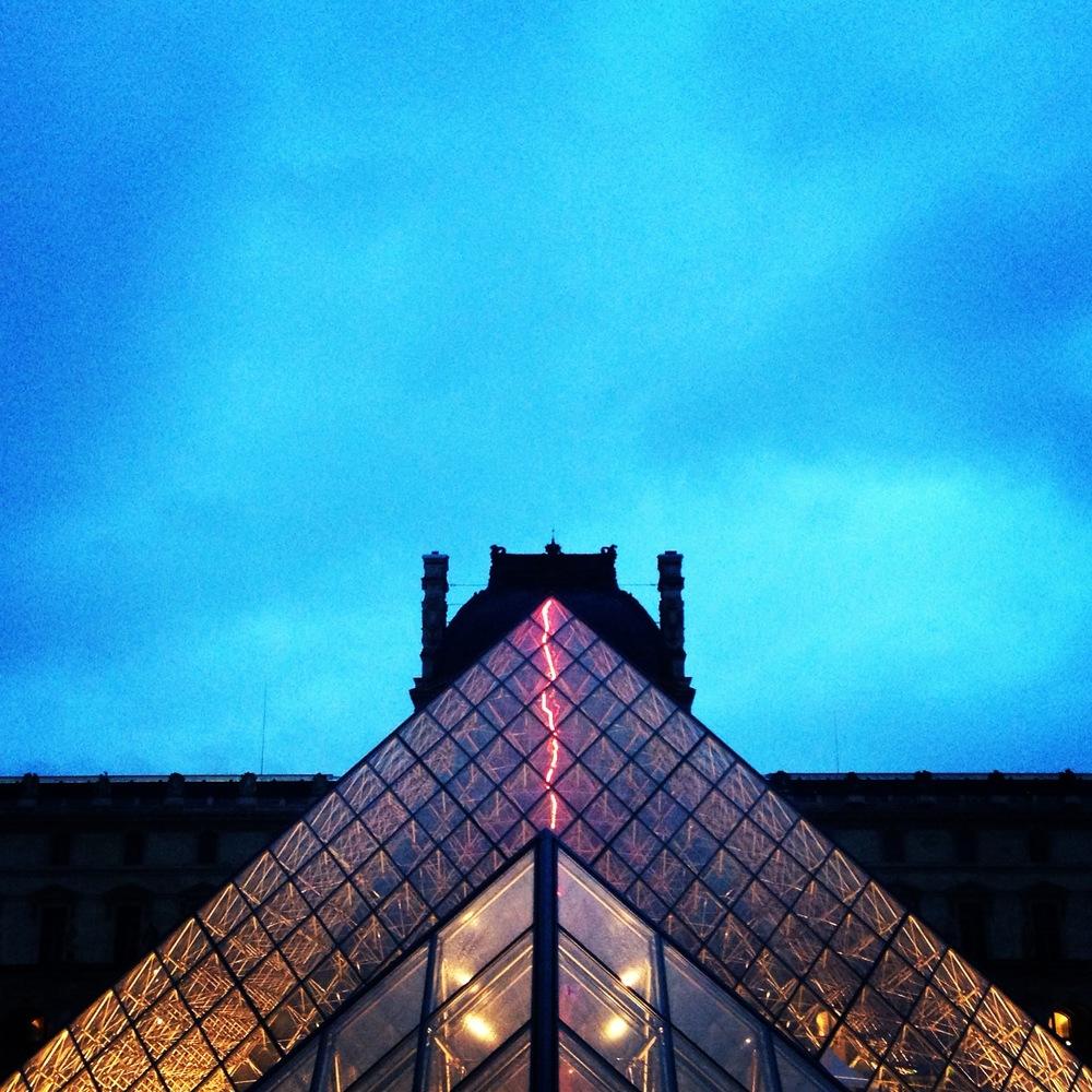Louvre Pyramid, Paris, 2014