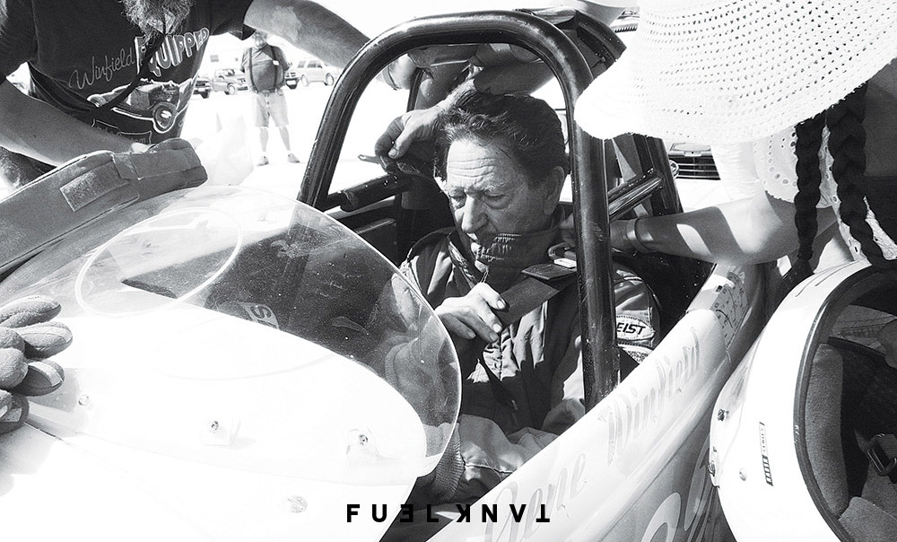 Gene suiting up to make another run at Bonneville speed week 2008. Photo: Craig Metros