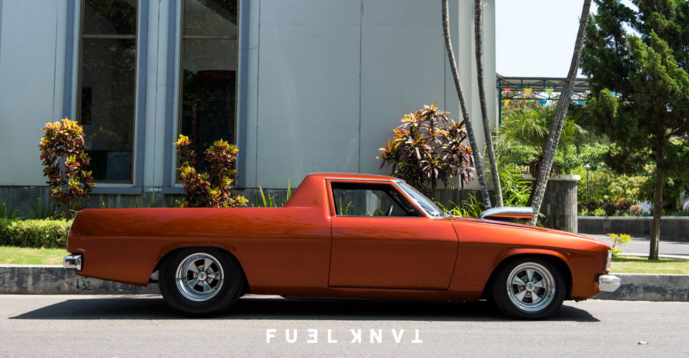 Custom Kingswood: Chopped & Tubbed 1975 Holden HJ Ute — Fuel Tank