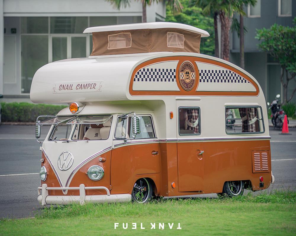 Custom Camping | The Yudi Yumos Custom Volkswagen 'Snail Camper
