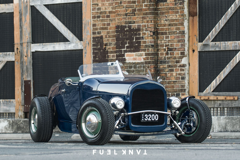 True Blue | George Kotevich\'s Ford Model A Roadster Hot Rod — Fuel Tank