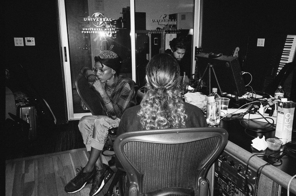 H.E.R.  in studio