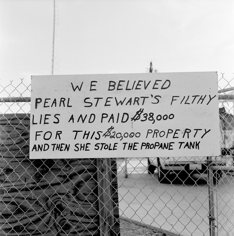 We Believed Pearl Stewart's Filthy Lies   Bombay Beach, California, 2004.