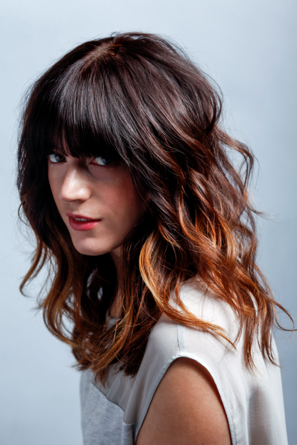 How to get this look: Our muse Alex has fine hair. To pump up the volume without choppy layers we use disconnection to create lots of movement for a lived-in feel. Cut by Nicole Giannini.