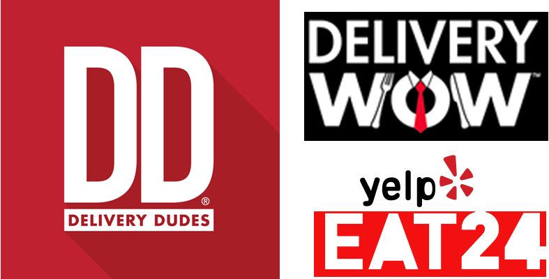 The Outside Food Delivery Services we use:     DELIVERY DUDES       DELIVERY WOW      EAT24