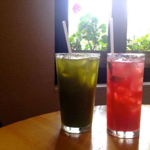 kale refresher and watermelon chiller