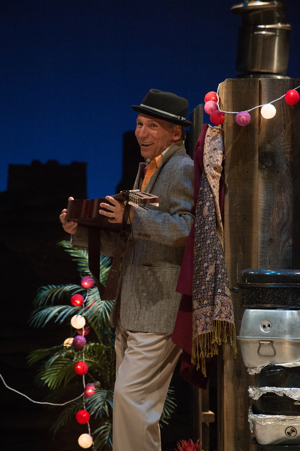 Agustín's (Armando Durán) music brings him joy. Photo: Jenny Graham, Oregon Shakespeare Festival.