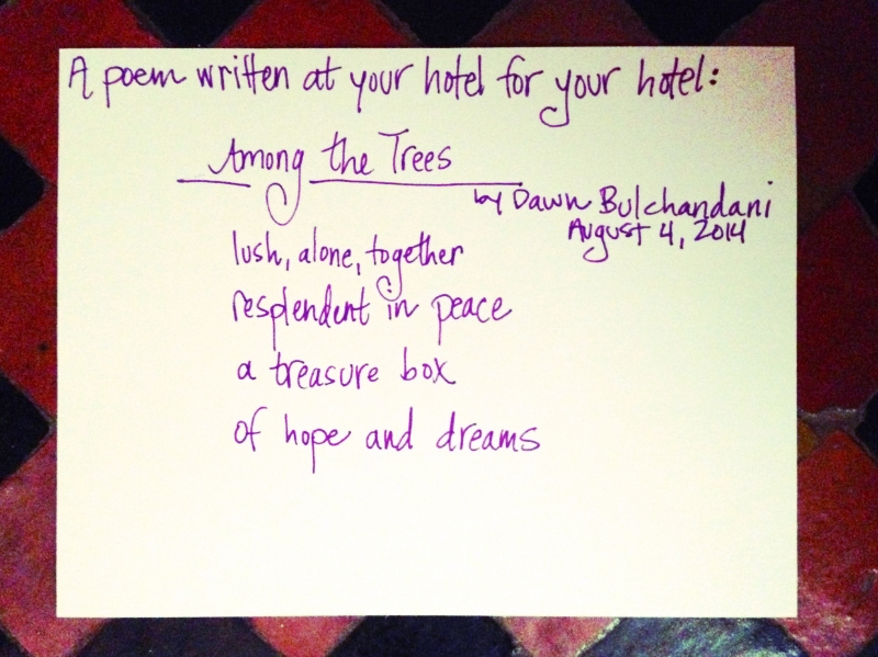 """Among the Trees"" Poem for Dar Ayniwen :: Photo Credit: Comuse Travels"