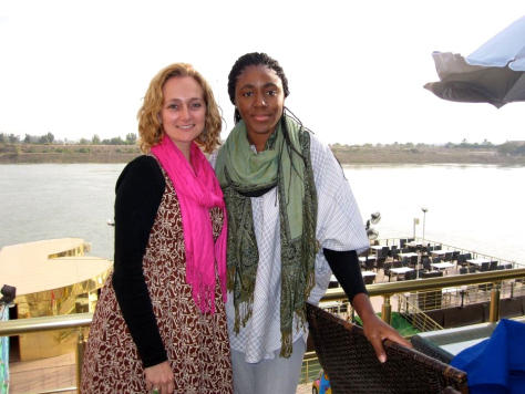 Dawn, Nere, Tigris River on the patio of the Lebanese Family Club