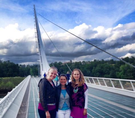 My necklace enjoying the Sundial Bridge