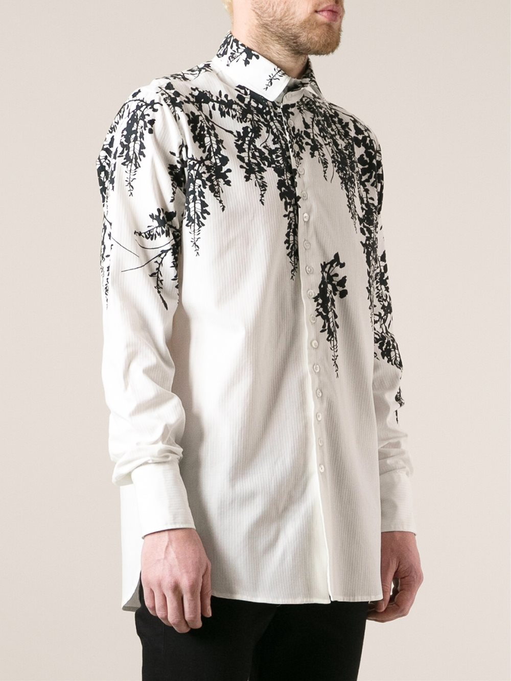 floral silhouette shirt $494.96
