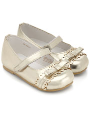 Baby Shimmer Bow Brogue Detail Walker Was $25.00 Now $7.50