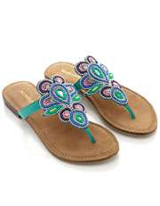 Peacock Toe Post Sandal Was $68.00 Now $34.00