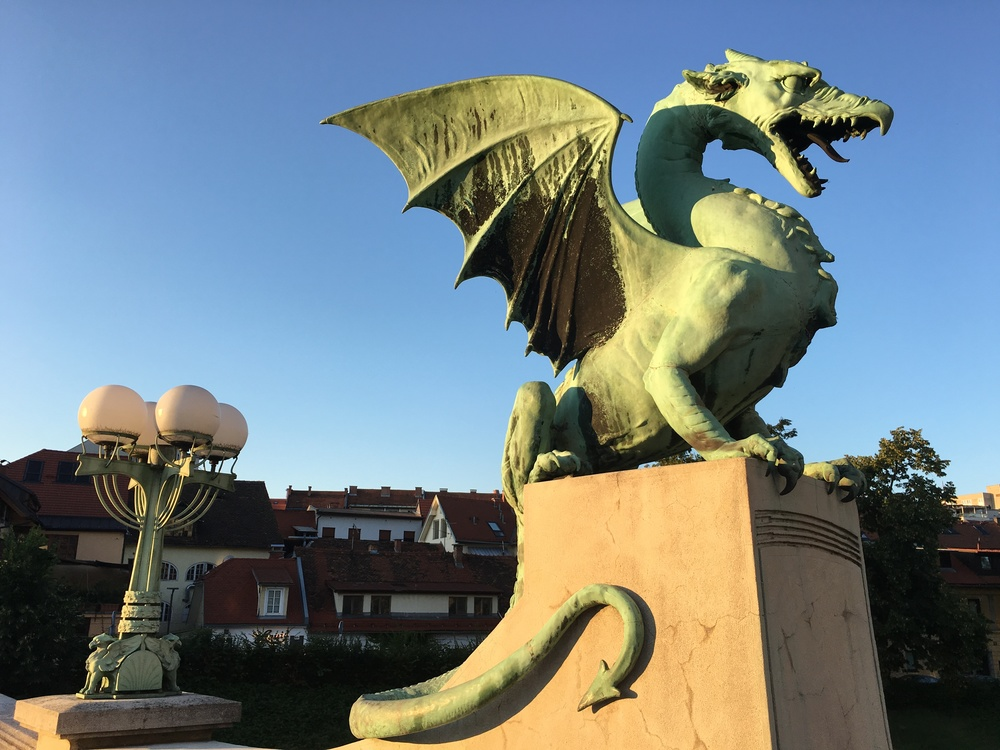 Dragon Bridge (Zmajski most) in Ljubljana