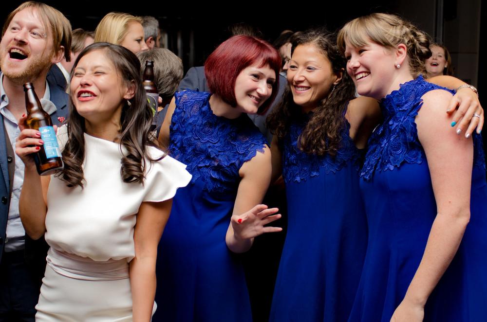 Saori and her bridesmaids.