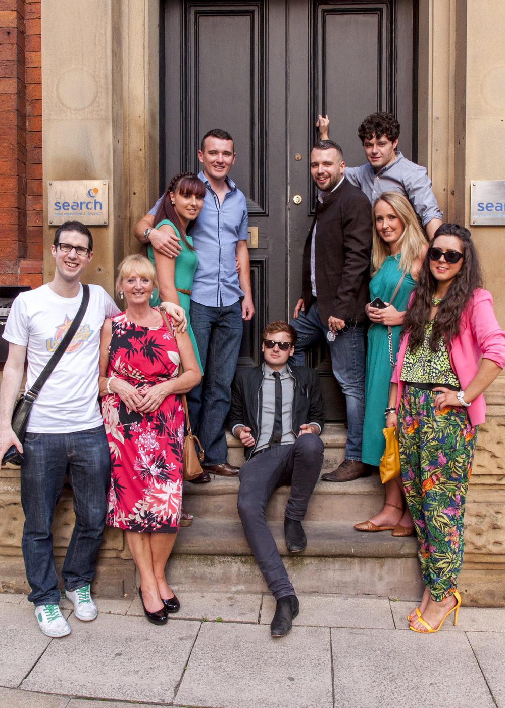 Anne-Marie, Siobhan, Patrick, Matt, Sean, Donal, Sinead and Ciara.