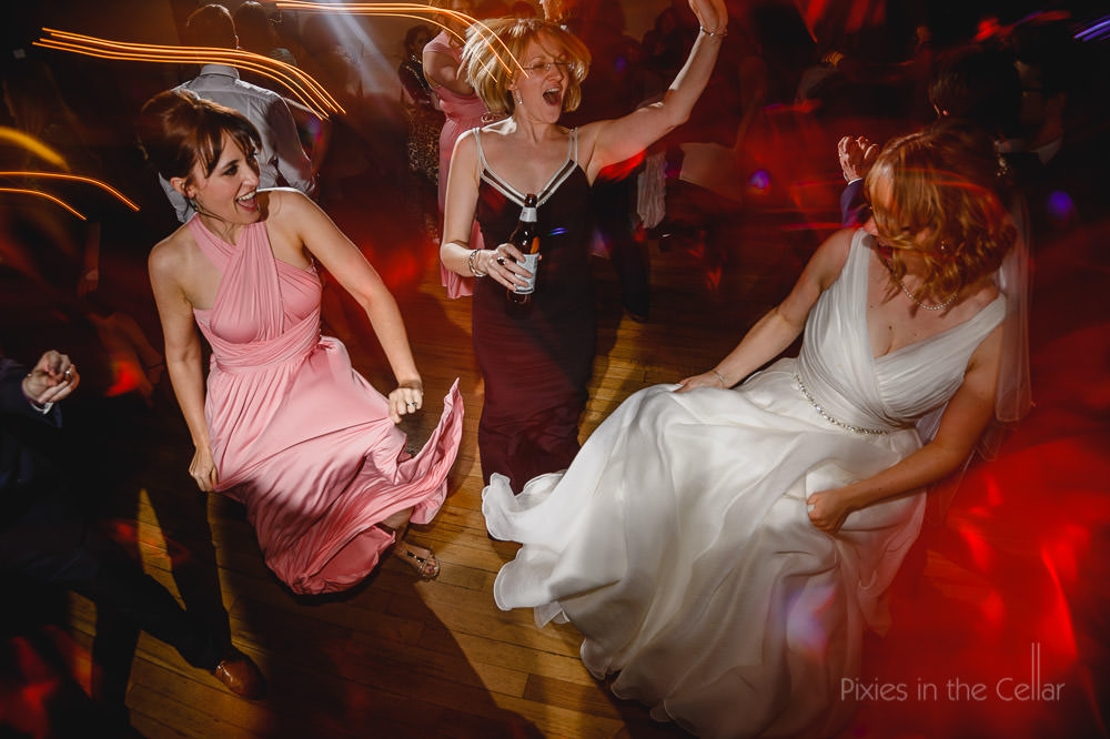 Dancing shot from Lizzie and Ian's amazing wedding at Samlesbury Hall. Photo credit to Pixies in the Cellar