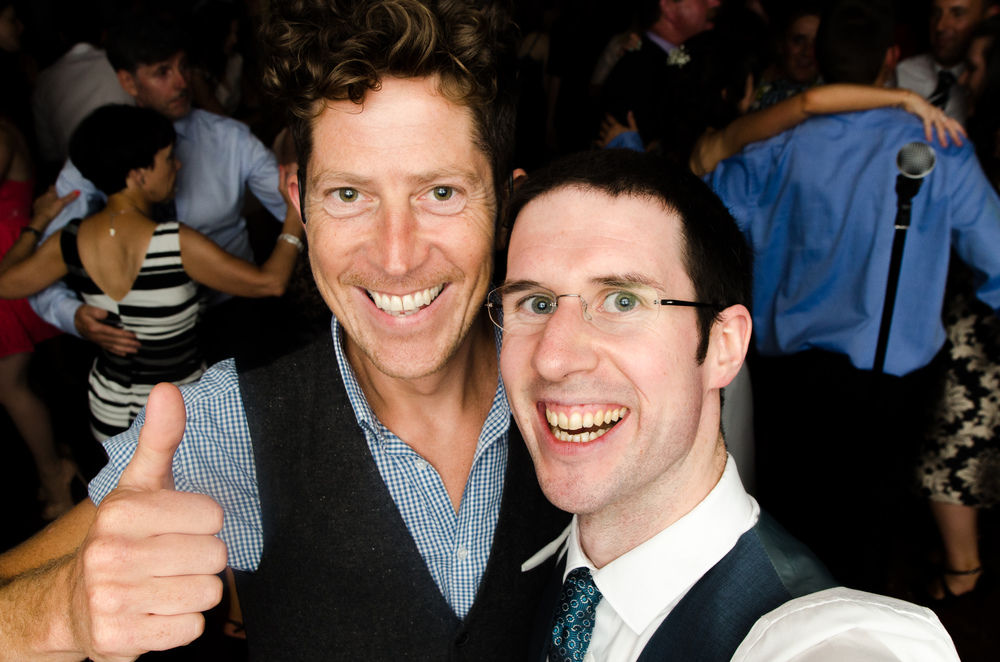 Kelvin from Groovy Rev with Wedding DJ Adam Carr at Bernie and Kevin's Wedding last August.