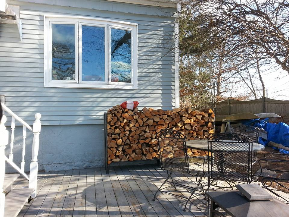 Another order of kiln dried firewood delivered and stacked!