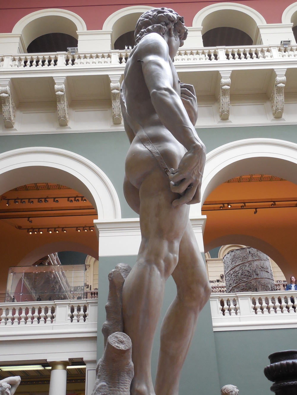Michelangelo's David and towering columns in the V&A Cast Courts