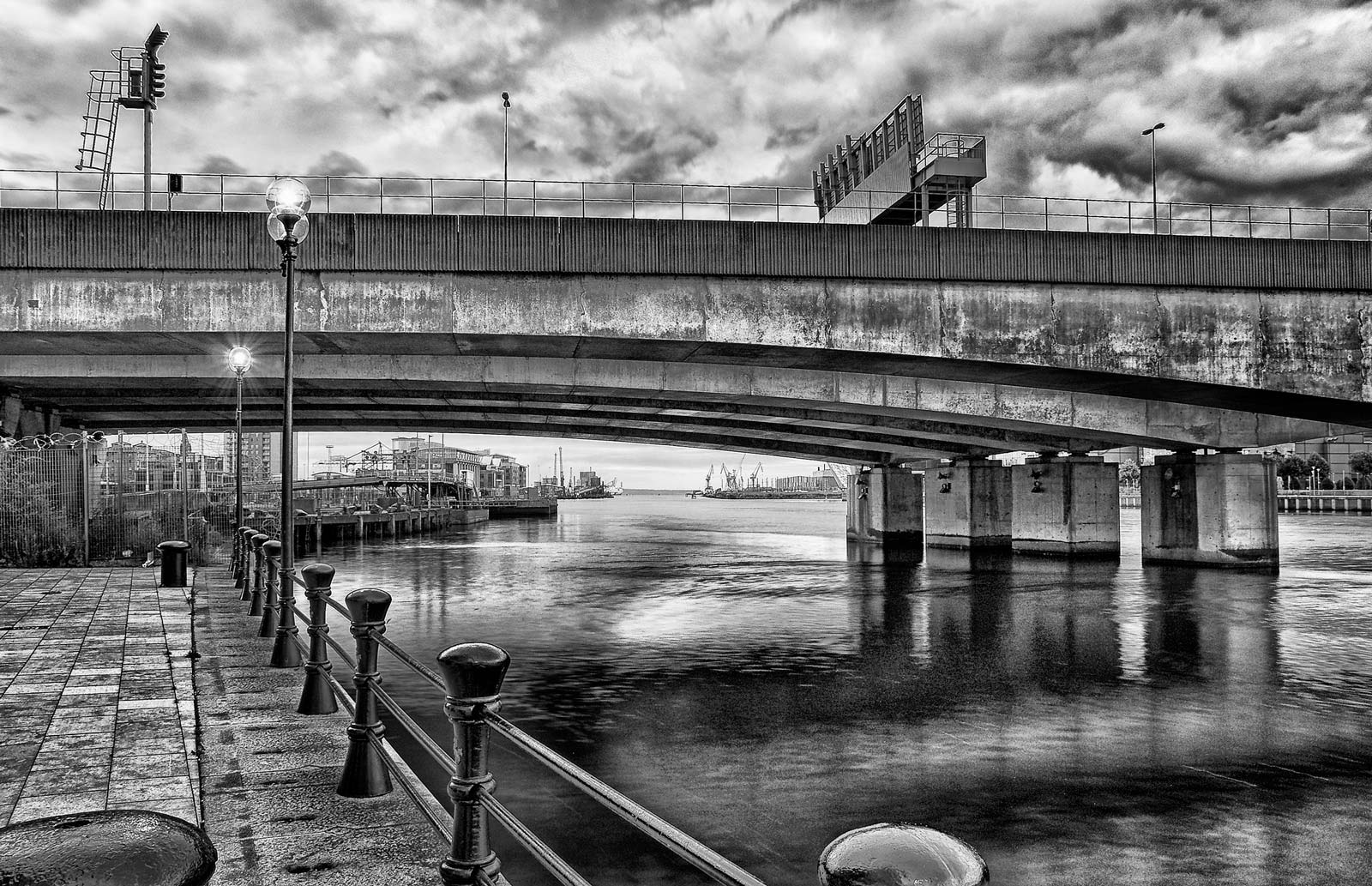 Donegal Quay, Overlooking the River Lagan by Geoff McGrath