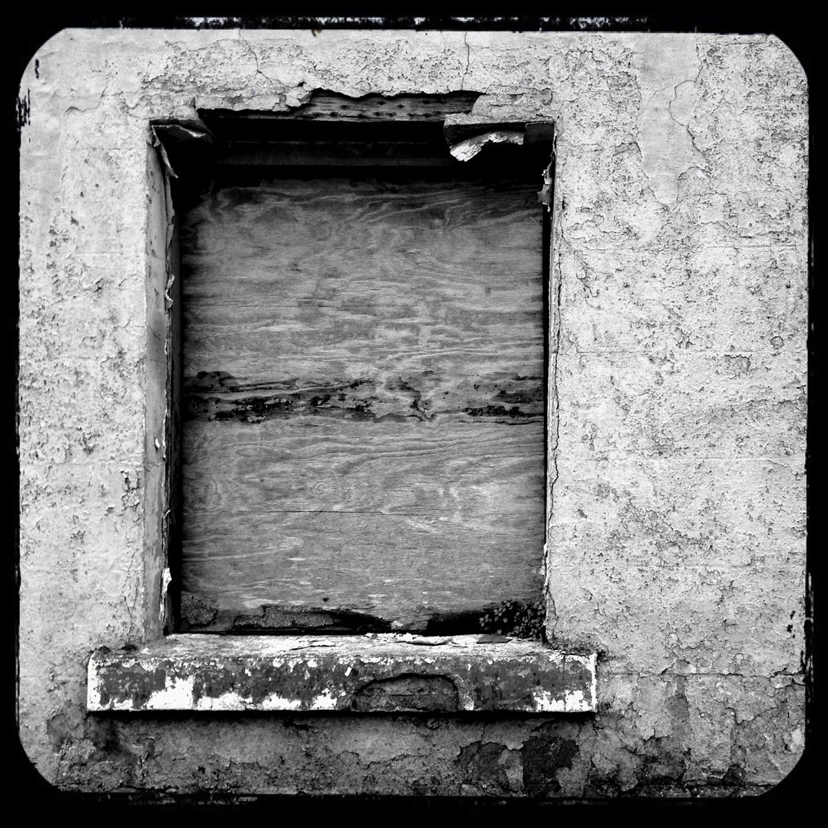 Boarded Up Window - iPhoneography - Smartphoneography