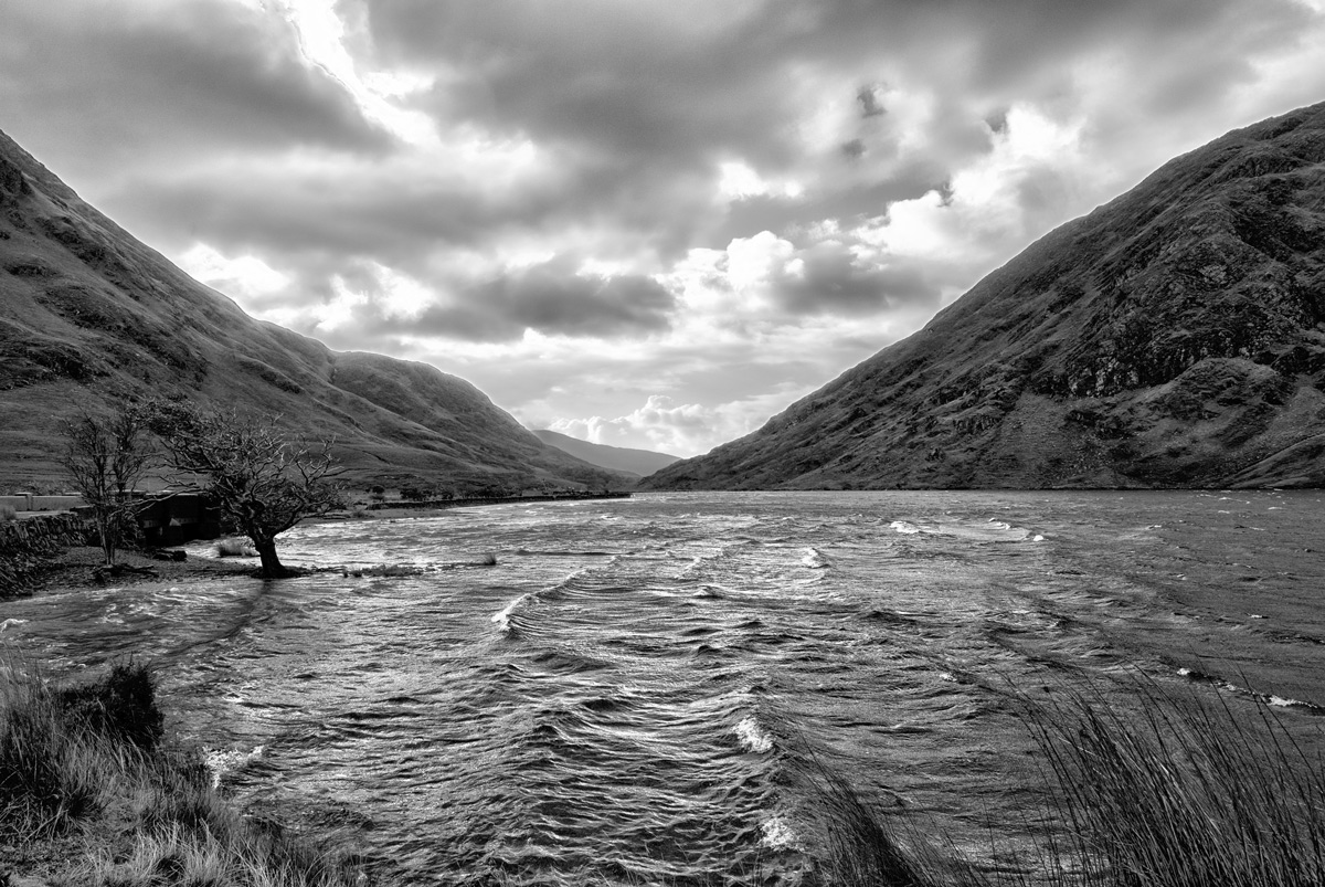 Fine Art Irish Landscapes, Upper Doolough Valley, Co. Mayo, Black & White, Geoff McGrath Photography