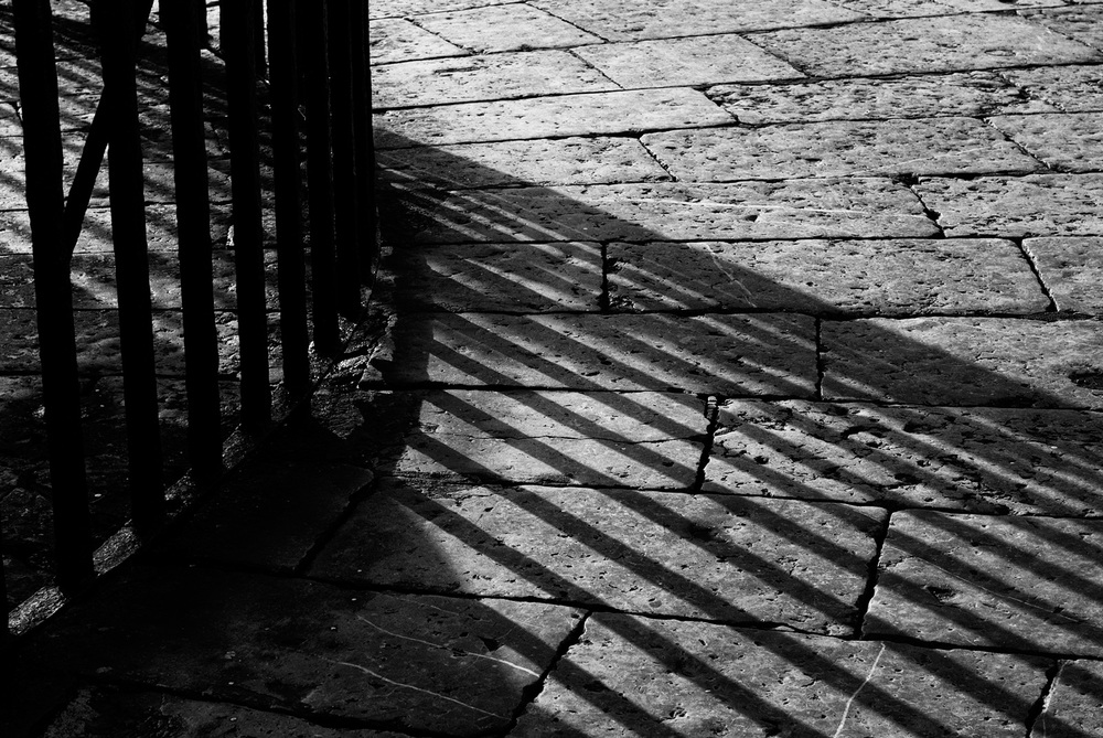 Shadows of an Iron Fence