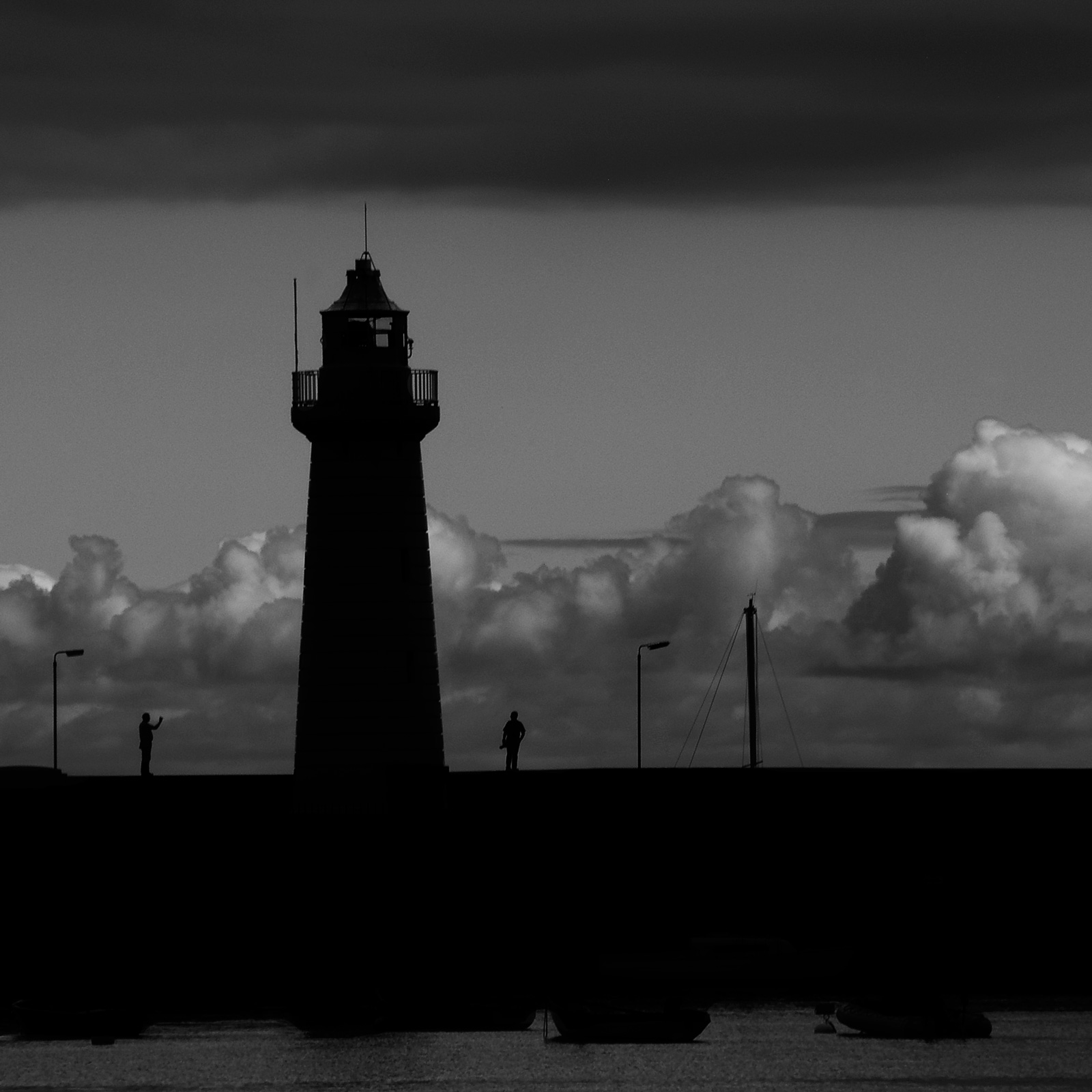 Silhouette - Donaghadee Lighthouse, by Geoff McGrath Fine Art Photographer