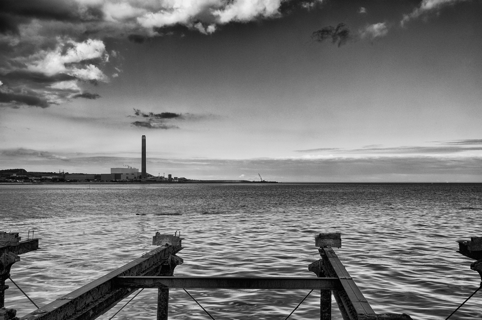Coastal Image from Carrickfergus overlooking Ballylumford Power Station