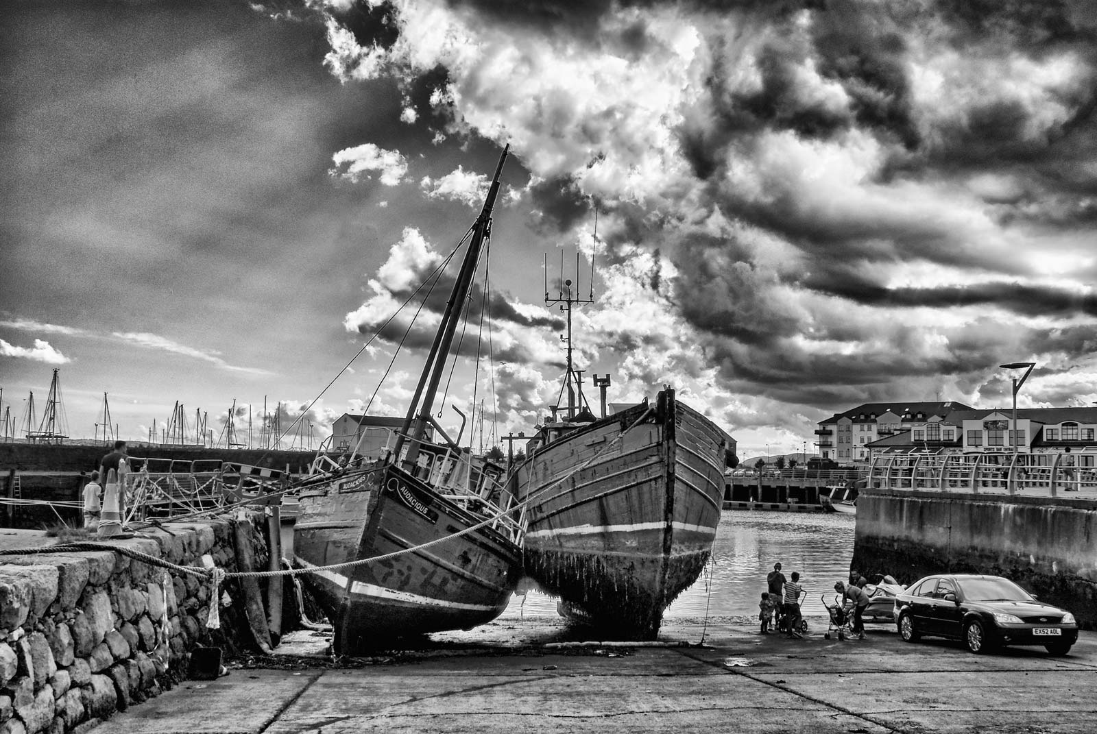 Old Ships in Carrickfergus Harbour