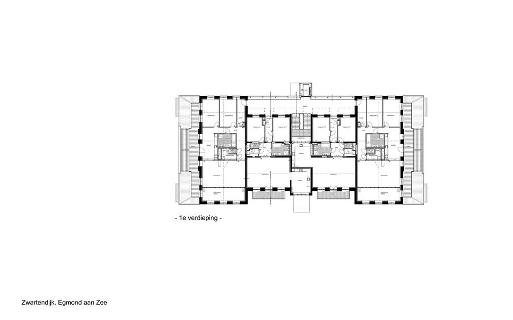 Koloniehuis, 1e verdieping