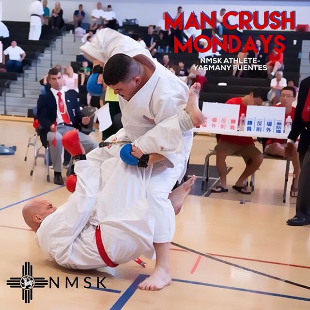 Now  this is  the way to start the week! Crushing it!  @yasomite_is_dynamite #mancrushmonday #NMKarate #NMSK #abqmartialarts
