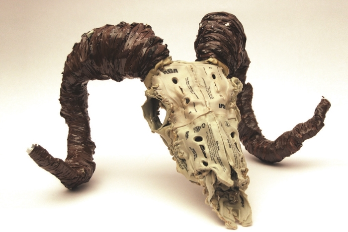 "0   0   1   8   50   Restoration Hardware   1   1   57   14.0                      Normal   0           false   false   false     EN-US   JA   X-NONE                                                                                                                                                                                                                                                                                                                                                                              /* Style Definitions */ table.MsoNormalTable 	{mso-style-name:""Table Normal""; 	mso-tstyle-rowband-size:0; 	mso-tstyle-colband-size:0; 	mso-style-noshow:yes; 	mso-style-priority:99; 	mso-style-parent:""""; 	mso-padding-alt:0in 5.4pt 0in 5.4pt; 	mso-para-margin:0in; 	mso-para-margin-bottom:.0001pt; 	mso-pagination:widow-orphan; 	font-size:12.0pt; 	font-family:""Cambria"",""serif""; 	mso-ascii-font-family:Cambria; 	mso-ascii-theme-font:minor-latin; 	mso-hansi-font-family:Cambria; 	mso-hansi-theme-font:minor-latin;}                   0   0   1   8   49   Restoration Hardware   1   1   56   14.0                      Normal   0           false   false   false     EN-US   JA   X-NONE                                                                                                                                                                                                                                                                                                                                                                              /* Style Definitions */ table.MsoNormalTable 	{mso-style-name:""Table Normal""; 	mso-tstyle-rowband-size:0; 	mso-tstyle-colband-size:0; 	mso-style-noshow:yes; 	mso-style-priority:99; 	mso-style-parent:""""; 	mso-padding-alt:0in 5.4pt 0in 5.4pt; 	mso-para-margin:0in; 	mso-para-margin-bottom:.0001pt; 	mso-pagination:widow-orphan; 	font-size:12.0pt; 	font-family:""Cambria"",""serif""; 	mso-ascii-font-family:Cambria; 	mso-ascii-theme-font:minor-latin; 	mso-hansi-font-family:Cambria; 	mso-hansi-theme-font:minor-latin;}       Brian Dettmer,  Ram Skull,  2007, altered cassette tapes."