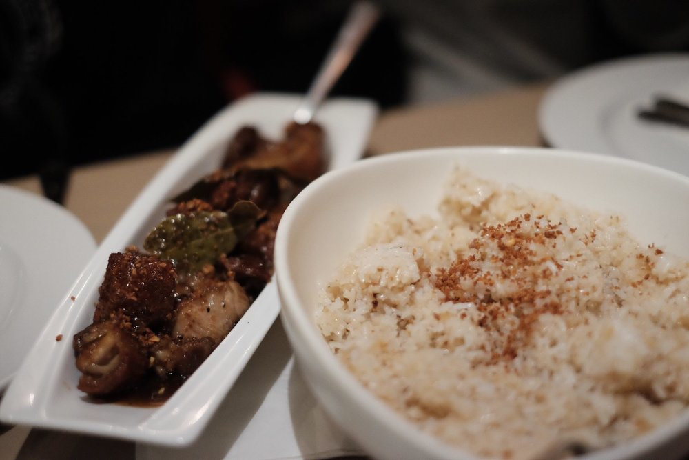 Crispy Tamarind Pork and Garlic Fried Rice