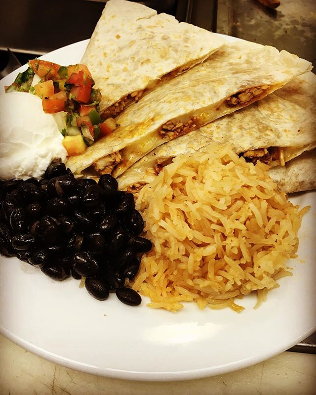 Can't get enough of Corners Cafe's delicious specials! Today it's a chicken quesadilla, tomorrow Turkey Meatloaf and Thursday a Chicken Hoagie! So much good food @youthuprising