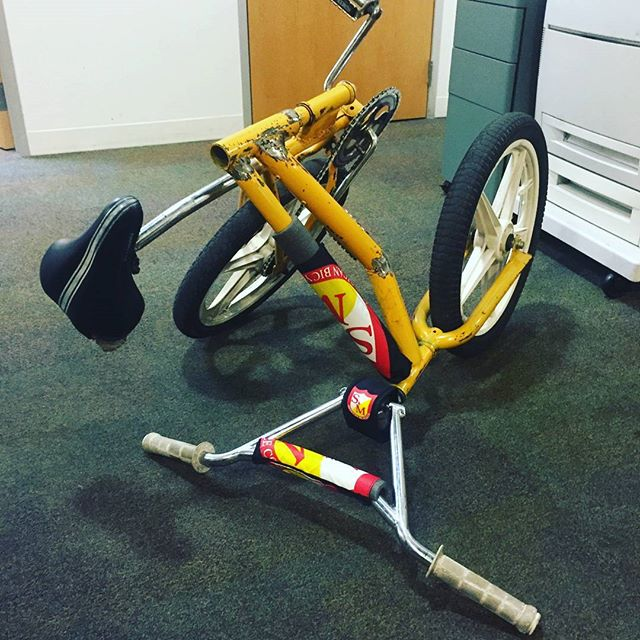 Rideable Bike Art by Antonio Moore. You can build your own on Saturdays at the MLK Branch Library on E14& 65th