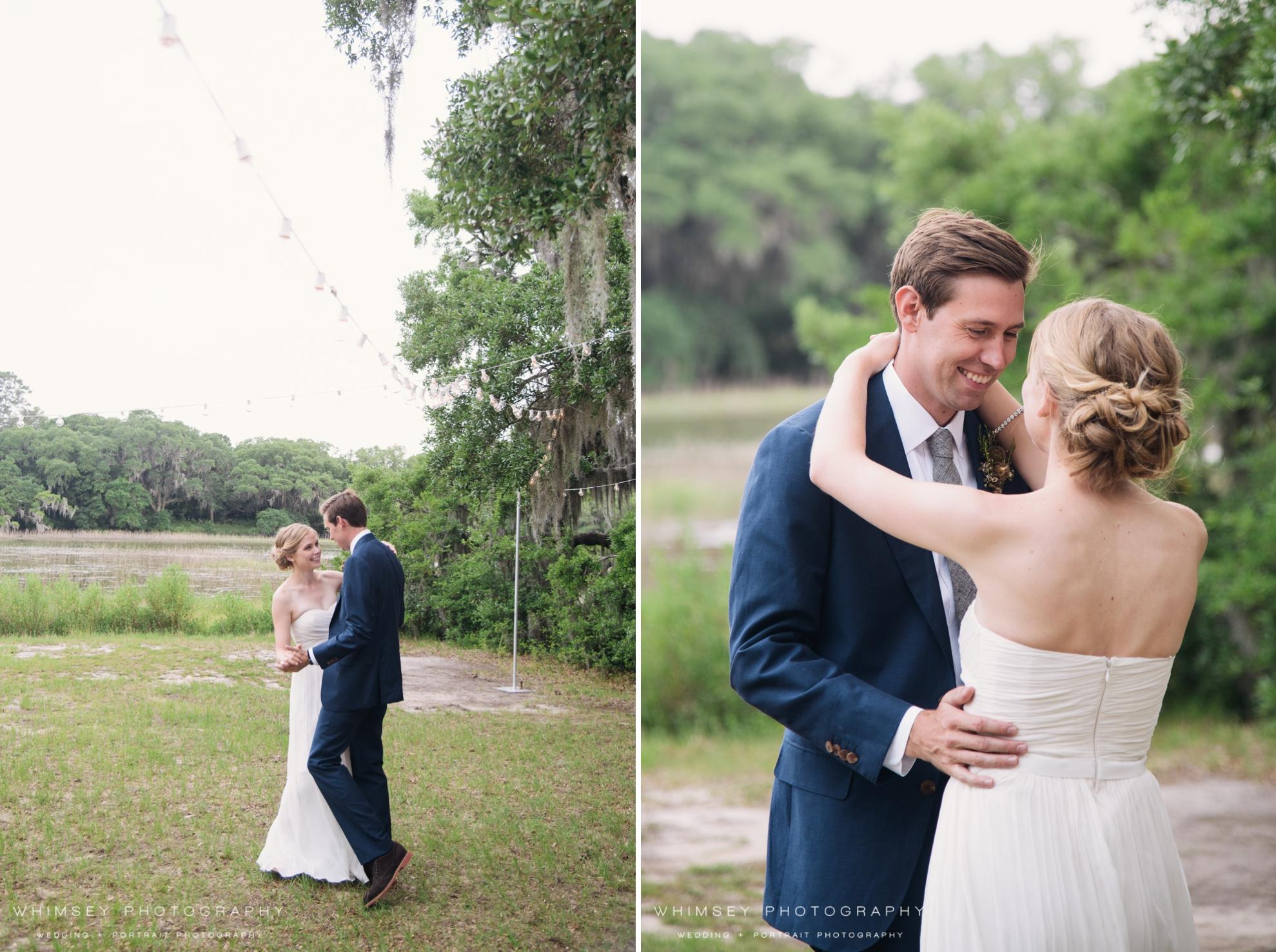 outdoor wedding johns island