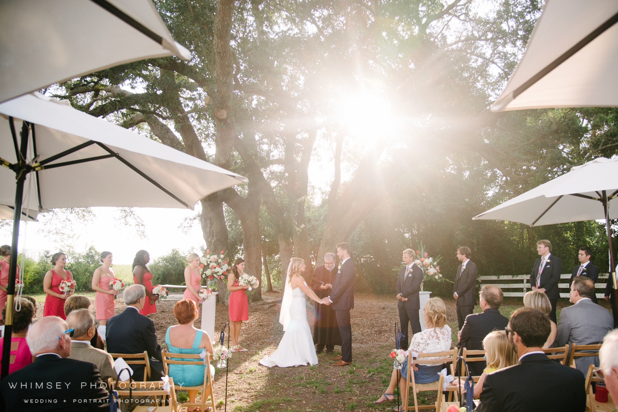 outdoor wedding in mt pleasant sc