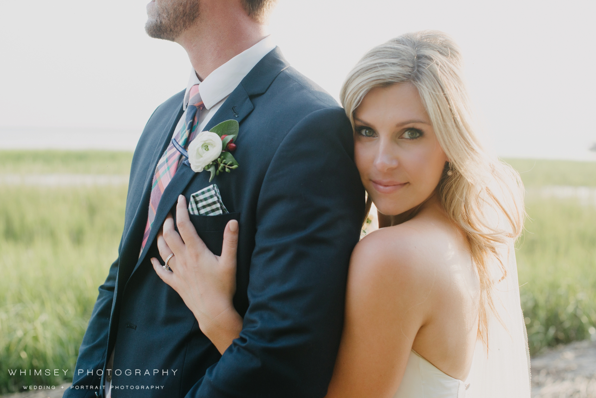 Charleston harbor wedding photo