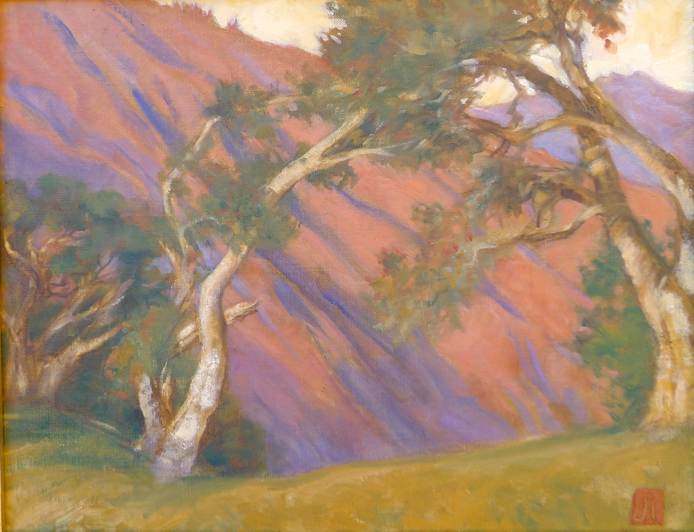 Oaks, August Sunset, Big Sur