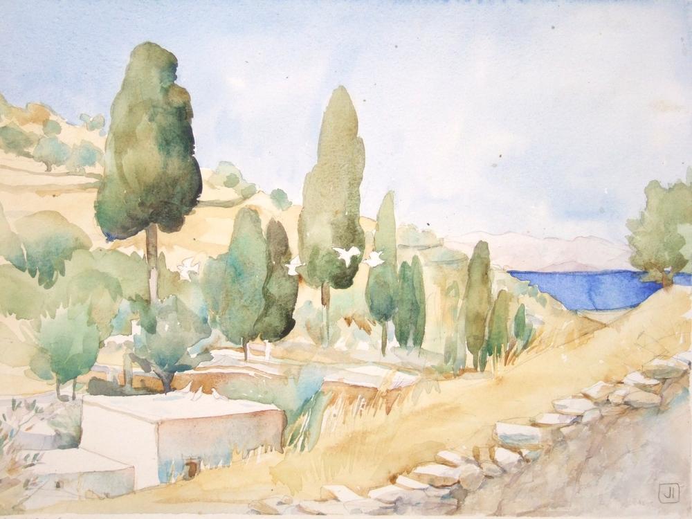 Island Doves, Lefkes village, Paros